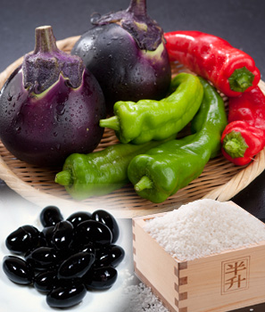 「丹波黒豆」「京野菜」「亀岡米」