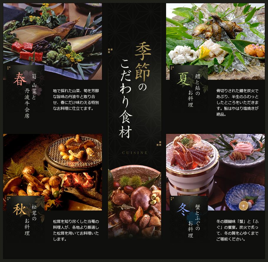季節の特別料理一覧